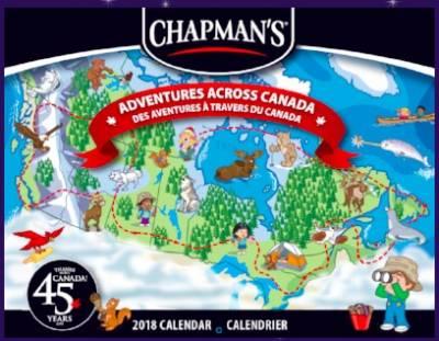 2018 Chapman's Calendar for Free