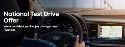$40 Reward card when you test drive a new Hyundai