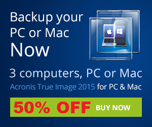 50% OFF on Acronis - Best Backup Software 2014 for Windows and Mac