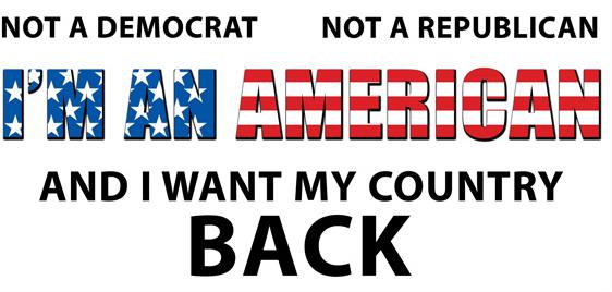 Free Sticker, I'm an American