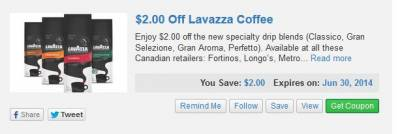 Lavazza Coffee Coupons