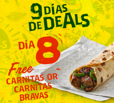 Coupon - Free Carnitas or Carnitas Bravas at Laredo Taco