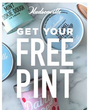 Coupon - Free Pint of Hudsonville Ice Cream