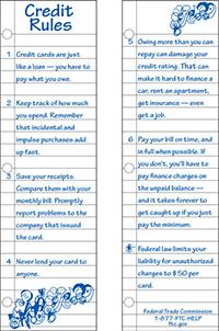 RequestCredit Rules Bookmark