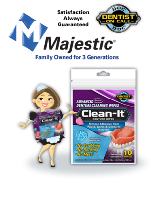 Survey: Free 10 ct. packet of Clean-It Advanced Denture Wipes
