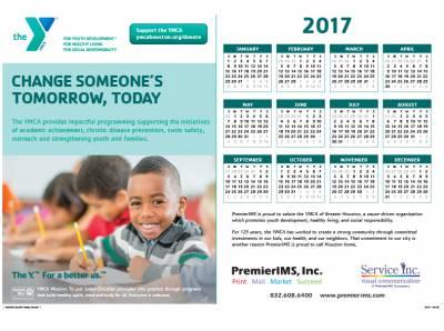 Request Free 2017 YMCA wall calendar- Companies