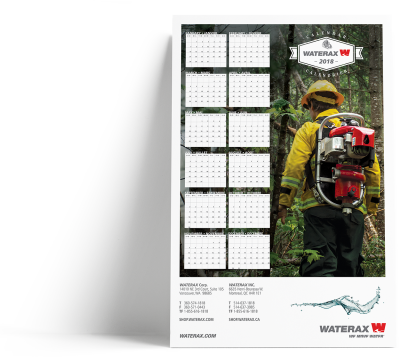 Request Free 2018 Waterax Wall Calendar For Companies