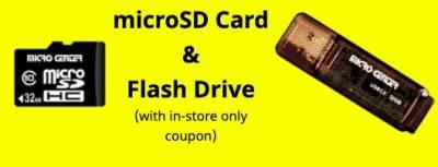 Free 32GB Micro SD Card and Flash Drive