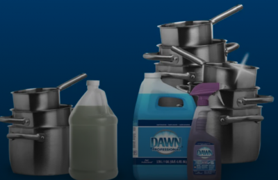 free 38oz sample of Dawn Professional Pot and Pan