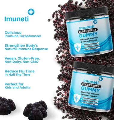 free bottle of Imuneti+ Elderberry Gummies!