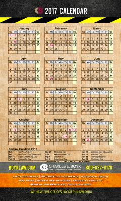 Request Free Boyk Law 2017 Calendar Magnet