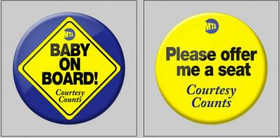 free button for Pregnant Women from MTA