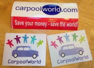 Free CarpoolWorld Stickers