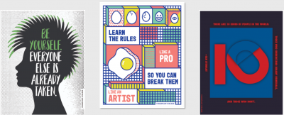 Free Champlain College Inspired Wall prints