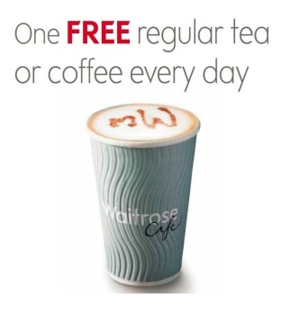 free cup of tea or coffee every day