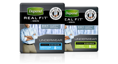 Free Depend Real Fit Sample