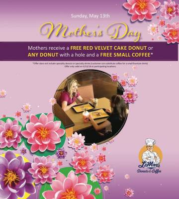 Mother's Day:  Free Donut & Coffee for Mom From LaMar's Donuts