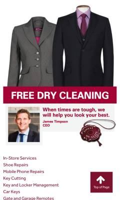 Free Dry Cleaning