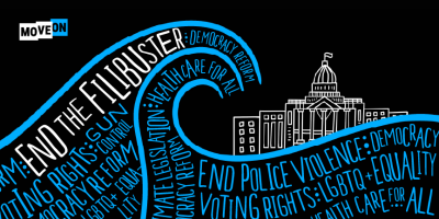 "free ""End the Filibuster"" sticker!"