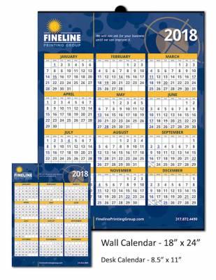 Companies: Free Fineline Printing Wall & Desk Calendar