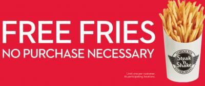 Free Fries at Steak n Shake