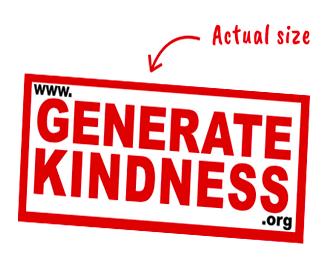 free Generate Kindness sticker