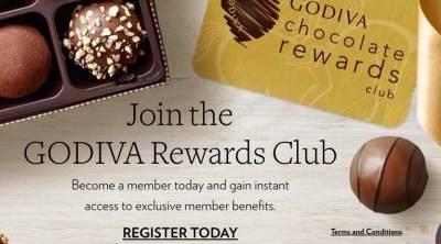 Free GODIVA chocolate on your Birthday