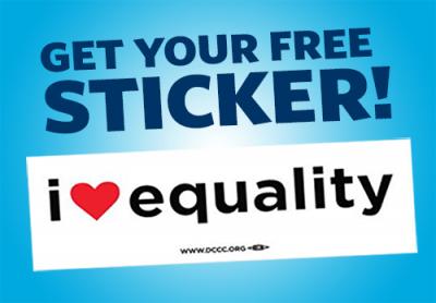 FREE I HEART EQUALITY sticker
