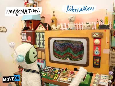 "free ""imagination.liberation"" sticker"