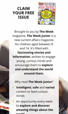 """Free issue of """"The Week"""" Magazine"""
