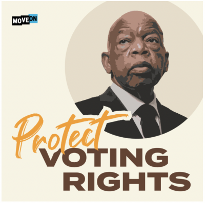 """free """"John Lewis - Protect Voting Rights"""" sticker"""