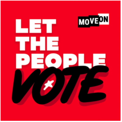 """free """"Let the People Vote"""" sticker!"""