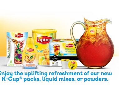 Save up to $1.00 and get a FREE Lipton® Tea sample when you create an e-card.