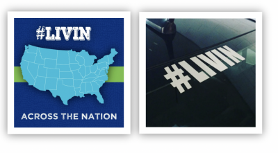 Free #LIVIN decal