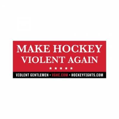 Request Free Make Hockey Violent Again Sticker