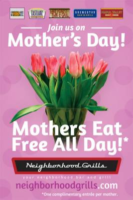 Mom's Day: Free Meal For Moms From Neighborhood Grills