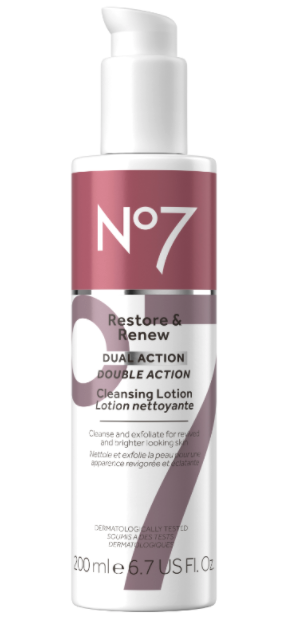 FREE No7 Restore & Renew Dual Action Cleansing Lotion
