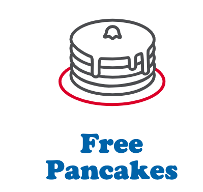 Free Pancakes at IHOP on you Birthday and every anniversary of signing up