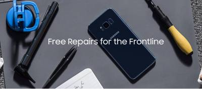 free repairs for Samsung phones for first responder or healthcare professional