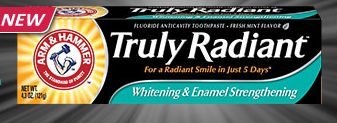 FREE Sample- Arm & Hammer Truly Radiant Toothpaste!