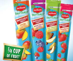 Schools: Free Sample of Del Monte Fruit Burst Squeezable Tubes