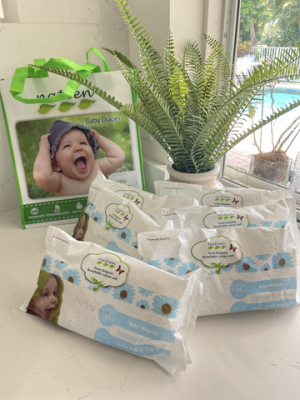 Free Sample of Nateen Eco-Friendly Premium Baby Diapers