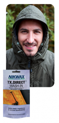 Free Sample of Nikwax wash-in waterproofer for breathable, wet weather gear