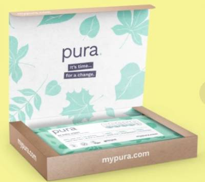 Free Sample of Pura wipes biodegradable and compostable wipes