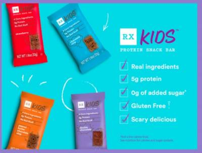 Free Sample of  RX Kids Protein Snack Bars