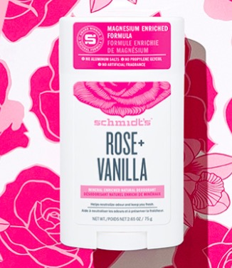 FREE SAMPLE of Schmidt's Rose + Vanilla Natural Deodorant