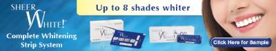 Request Free  Sample Sheer White Complete Whitening Strip System