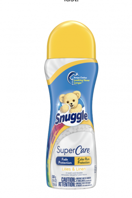 free sample of Snuggle® SuperCare™ Lilies and Linen Scent Boosters