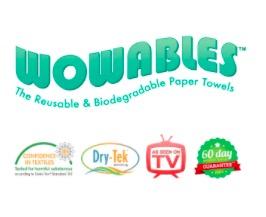 Free sheet of Wowables® Reusable Paper Towels