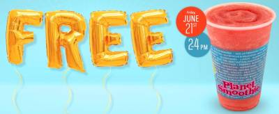 FREE SMOOTHIE AT PLANET SMOOTHIE (June 21)